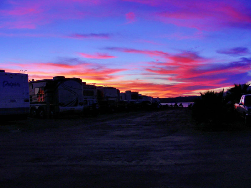 Campbell Cove RV Resort Sunset